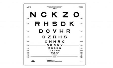 logmar chart: Carleton optical logmar 3m etdrs chart 1 original