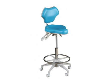 Murray POS-DC Posture Stool with Adjustable Tilt and Backrest, High Cylinder and Foot Ring