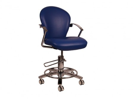 Murray CHROMA-HYD Hydraulic Patient Chair with Adjustable Seat Height & Lockable Swivel Action