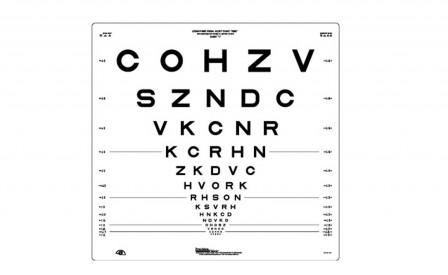 Carleton Optical - LogMar 4m ETDRS Chart 1 Revised